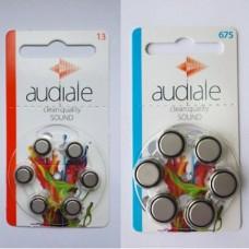"""Батарейки """"Audiale"""" 13 и 675 (1уп/6шт)"""